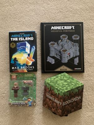 3 Hardcover Minecraft Books and free toy for Sale in Sammamish, WA