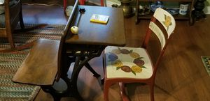 Antique School Desk with Bench for Sale in Traverse City, MI