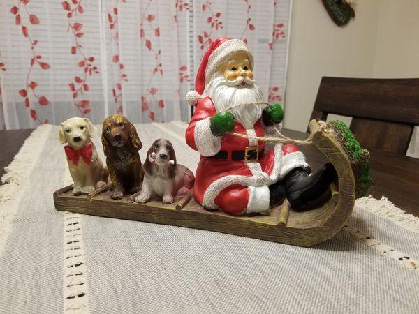 Santa & Pups Holiday Decoration