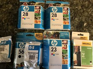 HP Tri-color and Black Ink Cartridges (new/unopened) for Sale in Chicago, IL