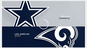 4 cowboys vs rams post owner club ticket passes for Sale in Bedford, TX