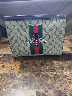 Gucci tan Bee printed Clutch bag for Sale in DeKalb, IL