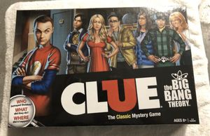 Sealed Big Bang theory clue board game for Sale in Corona, CA