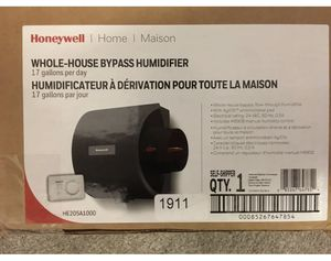 17 gallon whole home bypass humidifier. HVAC, New in Box. Honeywell for Sale in Virginia Beach, VA