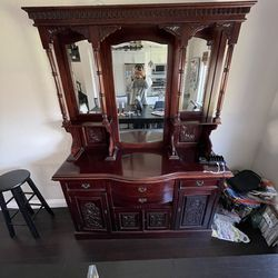 Hand Made Mahogany Antique China Cabinet for Sale in Huntington Beach,  CA