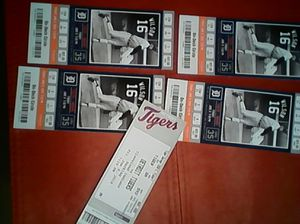 Tigers tickets and free parking June 8th for Sale in Grosse Pointe Woods, MI