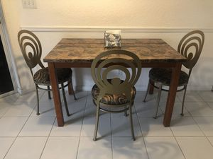 Table and 3 Chairs dining or breakfast. Lightly Used for Sale in Delray Beach, FL