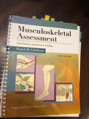 Musculoskeletal Assessment 3rd ed for Sale in Fort Lauderdale, FL