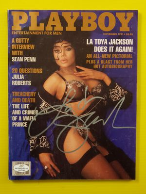 PLAYBOY MAGAZINE LA TOYA JACKSON SIGNED NOVEMBER 1991 CERTIFIED FS222965 for Sale in Wichita, KS