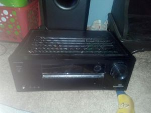 Onkyo home theater receiver and subwoofer for Sale in Stevensville, MT