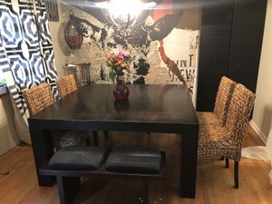 7pc Dining room set , table ,benches ,chairs for Sale in NJ, US