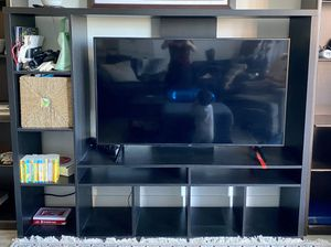 IKEA TV storage unit (black-brown) for Sale in Alexandria, VA