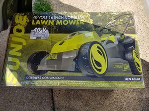 Sunjoe Cordless lawn mower for Sale in Philadelphia, PA