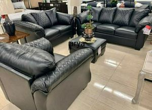 🏷Same Day Delivery🆕️In stock Black Sofa,Loveseat,Chair,Ottoman for Sale in Glen Burnie, MD