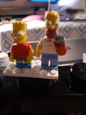 HOMER AND BURT SIMPSON LEGO MINIFIGURE SET LAST ONE for Sale in San Diego, CA
