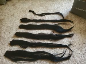 6 piece jet black Remy hair for Sale in Arlington, VA