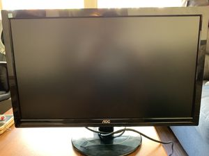 (2) 24 inch AOC computer/gaming monitors for Sale in Tampa, FL