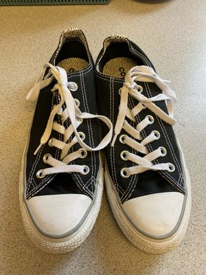 Converse All Star shoes - size 8 -black with speckled design for Sale in Santa Clara, CA