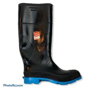 Iron Age Rubber Rain Muck Boots Black 7 for Sale in Princeton, NJ