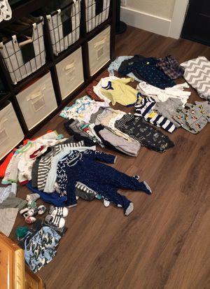 Baby boy 0-3 month clothes bundle for Sale in Tacoma, WA