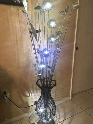 Metal LED Light Sculpture / Lamp for Sale in Miami, FL