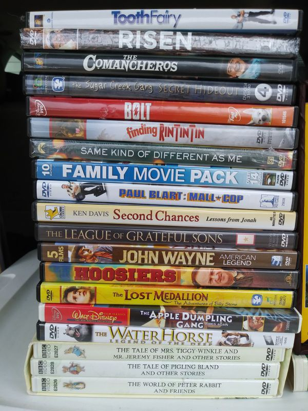 Family/youth dvds and vhs