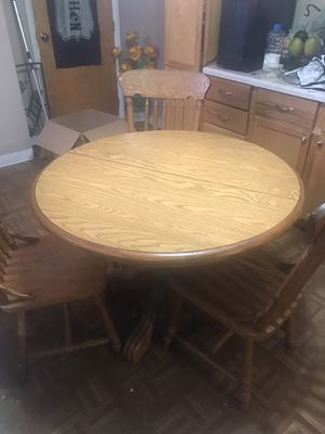 Kitchen table with 3 chairs and leaf for Sale in LaSalle, IL