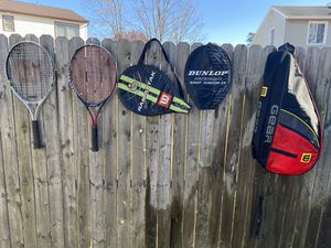 Tennis rackets , covers and carrying bag for Sale in Howell Township, NJ