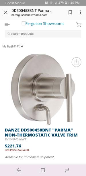 """DANZE DD500458BNT """"PARMA"""" NON-THERMOSTATIC VALVE TRIM for Sale in La Mesa, CA"""