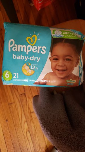 3 PACKAGES DIAPERS PAMPERS BABY DRY SIZE 6 for Sale in Hyattsville, MD