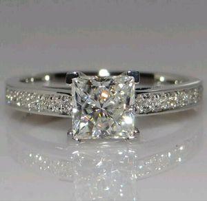 Brand new womens stamped 925 sterling silver genuine white sapphire engagement ring or promise ring for Sale in NW PRT RCHY, FL