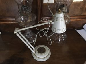 Antique farmhouse metal desk / table side lamp for Sale in Needville, TX