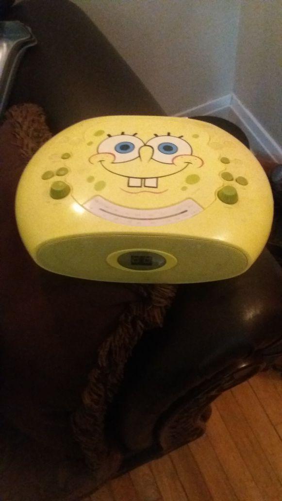 SpongeBob CD radio player