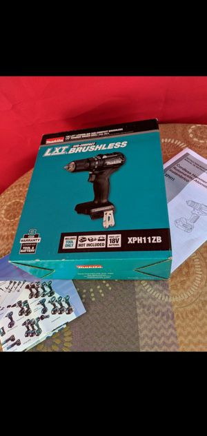 MAKITA 18-VOLT LXT LITHIUM ION BRUSHLESS CORDLESS SUBCOMPACT 1/2 IN HAMMER DRILL DRIVER (TOOL ONLY) for Sale in San Bernardino, CA