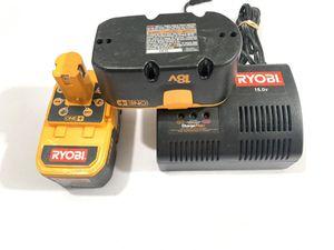 Ryobi 18.0 Volt 1423701 Charger & 2 ONE + 18v P100 Battery Packs Tested for Sale in Mesa, AZ