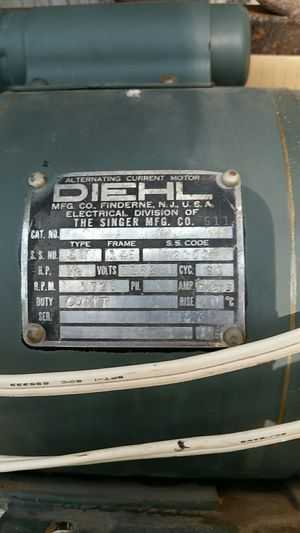 1/3 Hp electric motor for Sale in Pinetop, AZ