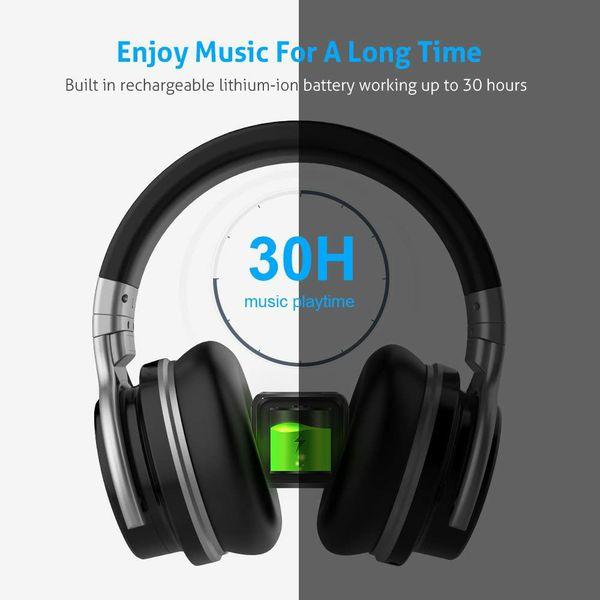 Meidong E7C Active Noise Cancelling Headphones Bluetooth Headphones Over Ear Wireless Headphones