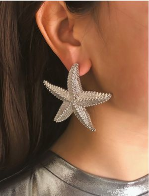 Fashion Shiny Ocean Sea Starfish Earrings For Women, Silver Color for Sale in Tustin, CA