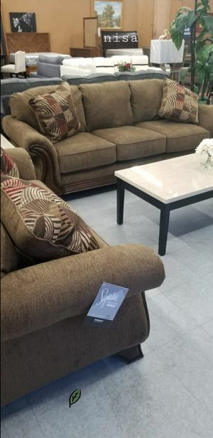 $39 DOWN❗BEST Deal 🛬 Montgomery Mocha Living Room Set 138 for Sale in Jessup, MD