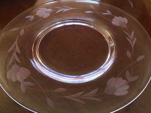 VINTAGE PINK ETCHED DEPRESSION GLASS PLATES for Sale in Cloudcroft, NM