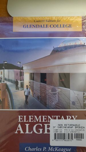 Elementary Algebra with Students Solution Manual for Sale in Glendale, CA