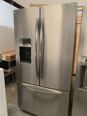 Refrigerator Whirlpool Stainless Steel French Door for Sale in Jacksonville, FL