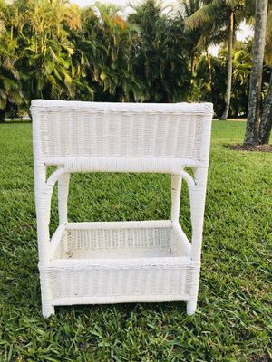 Wicker shelf stand storage for Sale in Delray Beach, FL