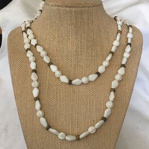 White glass beaded necklace for Sale in Baldwin, NY