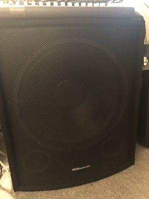 "MCM pro Audio 18"" passive subwoofer for Sale in Covington, GA"