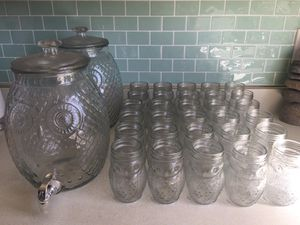Set of Owl Beverage Dispensers and Mason Jars for Sale in Redondo Beach, CA