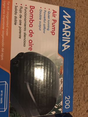 Marina 200 air pump-fish tank, aquarium for 60 gal. (New) for Sale in Happy Valley, OR