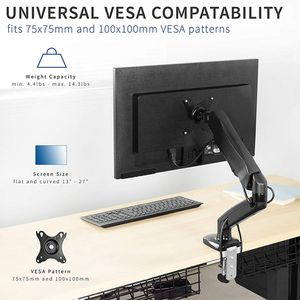 "Brand New $20 VIVO (V001O) Height Adjustable Monitor Desk Mount Fully Articulating Single Arm, Screens up to 27"" for Sale in Whittier, CA"