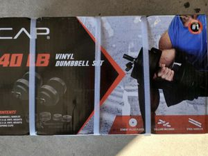 BRAND NEW CAP 40LBS DUMBBELLS SET for Sale in Moreno Valley, CA