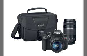 Canon - EOS Rebel T6 DSLR Camera with EF-S 18-55mm IS II and EF 75-300mm III lens for Sale in TX, US